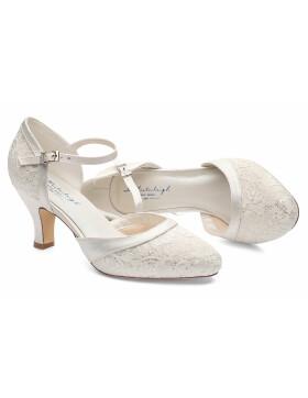 sports shoes 4ac65 a7b05 Westerleigh Brautschuhe Jasmine Ivory Satin mit Riemchen, 7 ...